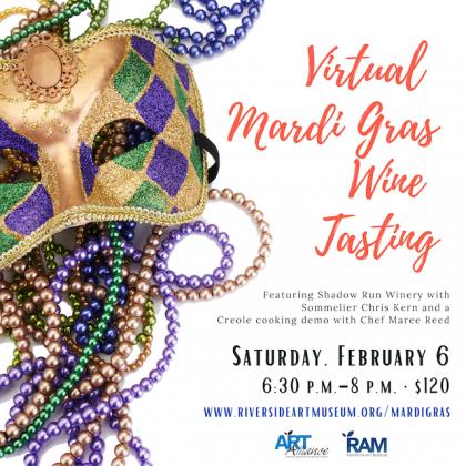 Virtual Mardi Gras Wine Tasting Fundraiser